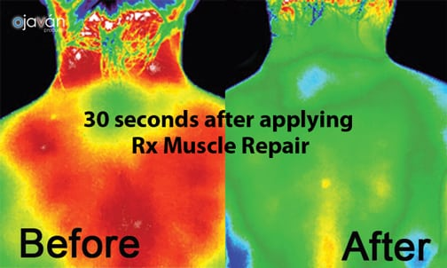 Before and after Hitto RX Muscle Repair | Organic muscle repair rub | sold at TimeLess Medical Spa in Ogden Utah