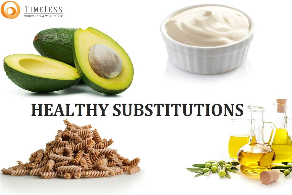 Healthy Food Substitutions (Avocado, grain pasta, and healthy oils)