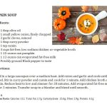 Healthy pumpkin soup ingredients and how to prepare