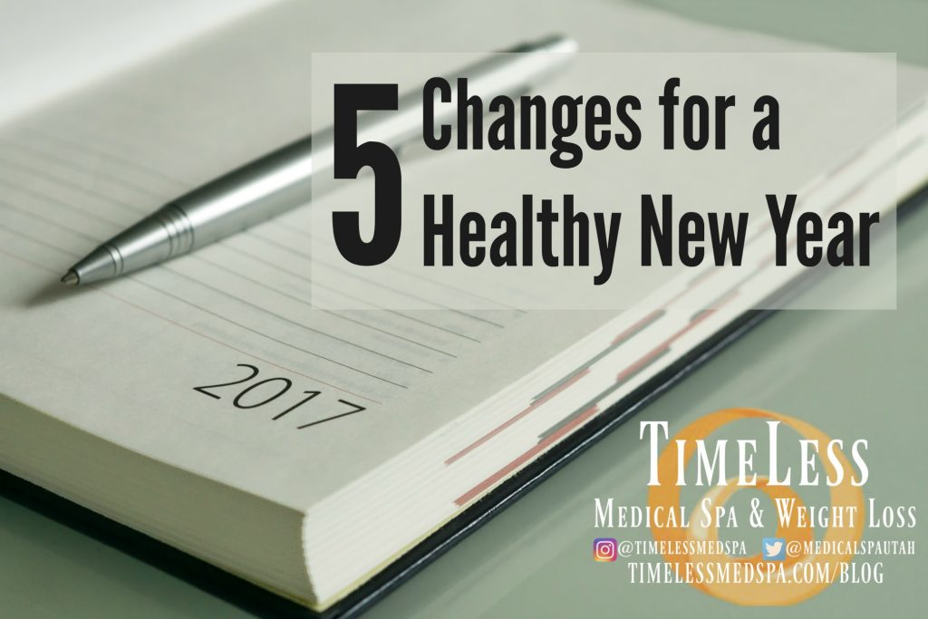 5 Changes for a Healthy New Year // TimeLess Medical Weight Loss Blog