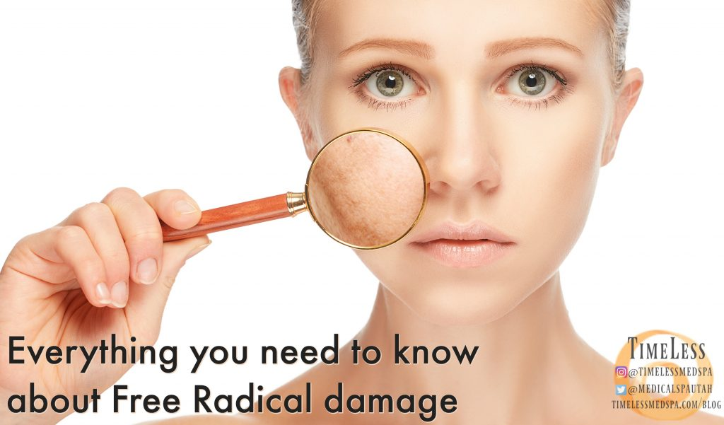 Everything you need to know about free radical damage // TimeLess Medical Spa skin care blog // Ogden Utah