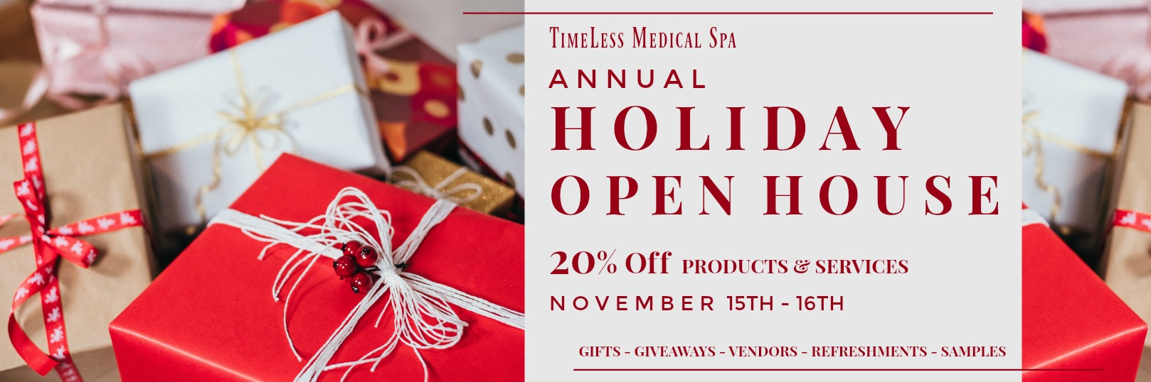 TimeLess Medical Spa Annual Holiday Open House