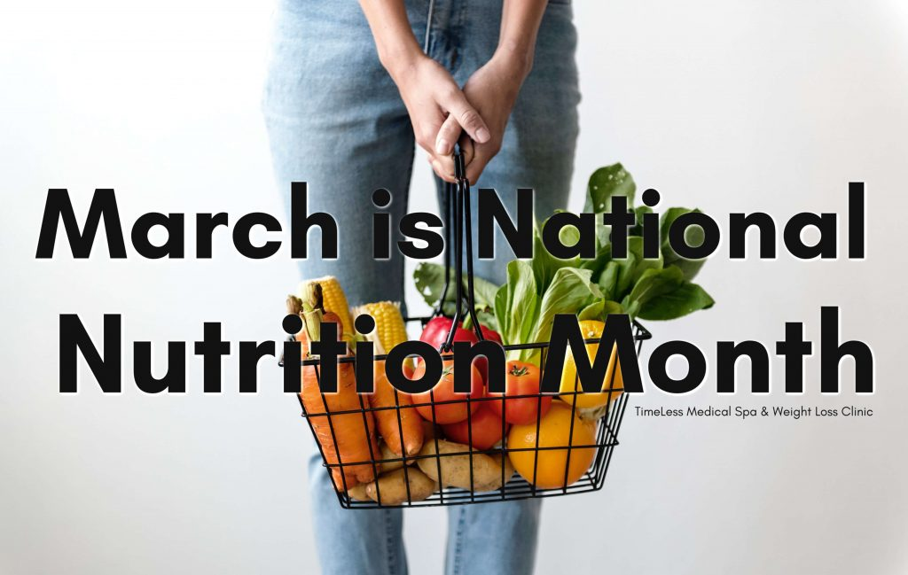 March is National Nutrition Month || Nutrition Facts and healthy substitutions for cooking. Blog Post by TimeLess Medical Spa and Weight Loss Clinic in Ogden, Utah