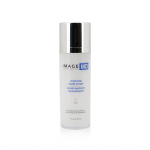 A bottle of Image MD Restoring Youth Serum